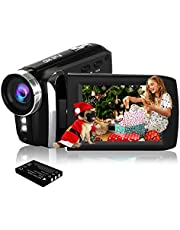 HG5250 Digital Video Camera FHD 1080P 12MP 270 Degree Rotatable Screen Camcorder for Kids/Beginners/Elderly