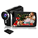 HG5250 Digital Video Camcorder FHD 1080P 12MP 270 Degree Rotation Flip Screen Video Camera for Kids/Beginners/Elderly