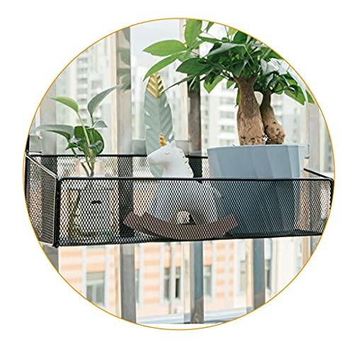 Recipientes para Plantas Estante de Almacenamiento de partición de Escritorio Estante para macetas Colgantes Marco de Ventana antirrobo para balcón Soporte para macetero para alféizar de Ventana