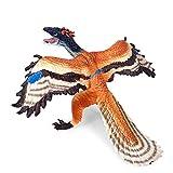 Detazhi Dinosaur Model Simulation Plastic Dinosaur Model Jurassic Static Solid Small Archaeopteryx Ancient Pterosaur Dinosaur Hand-Made Toy Ornaments