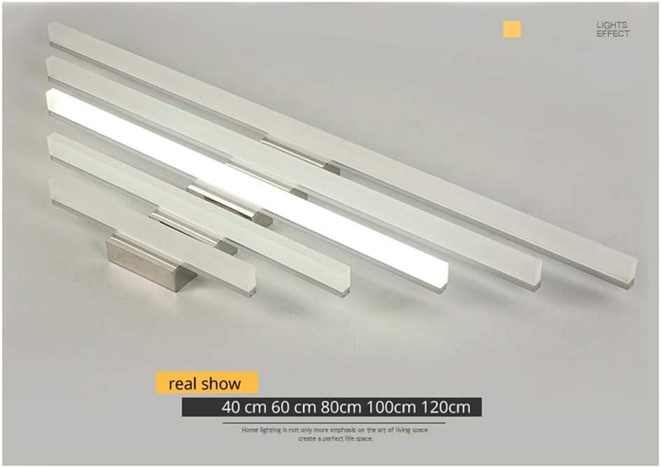 Lozse 16W LED Spiegelleuchte Schranklampe Wandleuchte Kaltweiß, Badezimmerlampe Badlampe Spiegel Wand Schminklicht 120cm 7w Kaltweiß