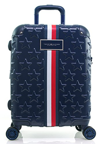 Tommy Hilfiger Starlight Hardside Spinner Luggage, Deep Navy, 21 Inch