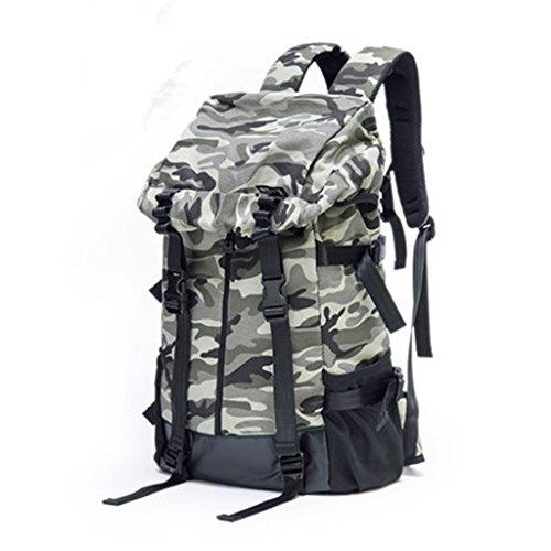 JU FU Sac à bandoulière pour Hommes coréen Wave de Grande capacité Camouflage Outdoor Sac à Dos Casual Canvas Bag |