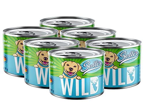 Sollis - Hundefutter Nass - 6er-Pack   Ohne Getreide   Hoher Fleischanteil   Ohne Zucker   Getreidefreies Nassfutter für Hunde