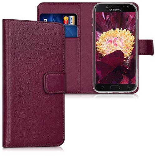 kwmobile Hülle kompatibel mit Samsung Galaxy J5 (2017) DUOS - Kunstleder Wallet Hülle mit Kartenfächern Stand in Bordeaux
