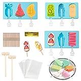 Eisformen Silikon-Form,Popsicle Formen Set,3 Stück Ice Pop-Formen für Kinder,Wiederverwendbare...