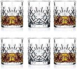 BAIYAN Decantador de Vino, Dispensador de Botellas de Licor 6pcs Gafas de Whisky de Cristal, cristalería de Cristal de Gafas de Cristal clásicas escocés, Gin Bourbon y tónico Whiskey Set de re