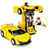 FQDVM Hot Toys for 2-7 Years Old Boys Girls, Robot Car Toy Kids 2 in 1 Deformation Car for Kids Birthday Gifts for 2-6 Years Old Boys Girls