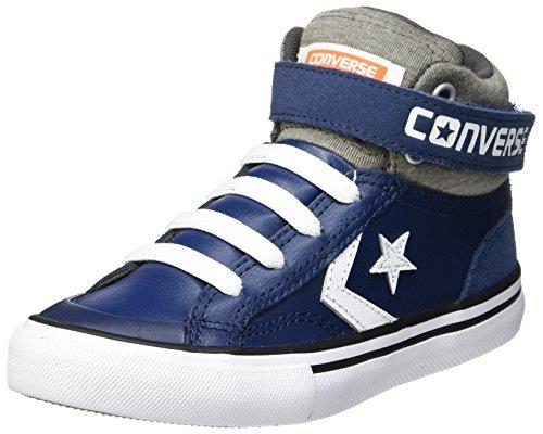 Converse Little Kids Pro Blaze Strap Leather and Suede Hi Top Shoe (Navy/Storm Wind/White) (2 Little Kid)