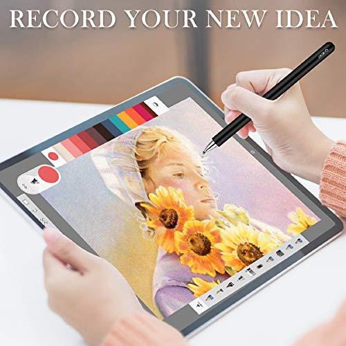 MEKO Eingabestift Disc Touch Pen, 2 in 1 Stylus Pen universal Touchstift 100% kompatibel mit Allen Tablets Touchscreen iPhone iPad Surface Huawei usw, magnetische Kappe (schwarz)
