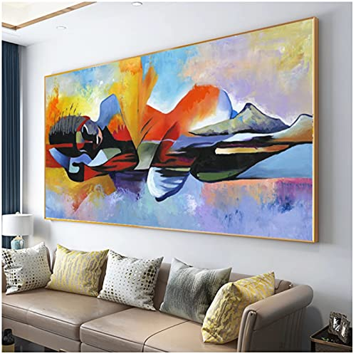 Drop verzending Groter Lord Buddha Abstract Olieverf Boeddha Canvas Religieuze Poster Print Wall Art Pictures voor Woonkamer