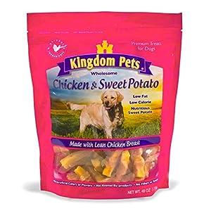 Kingdom Pets Filler Free Chicken Jerky & Sweet Potato Twists, Premium Treats for Dogs, 48-Ounce Bag