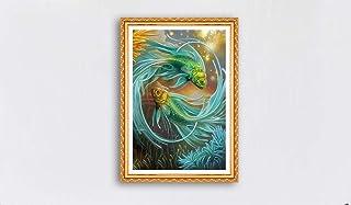 キャンバスアート壁ポスター 動物魚の大きなスプラッシュ 海报 绘画 帆布艺术 室内装饰 壁挂 墙壁海报 HD时尚海报
