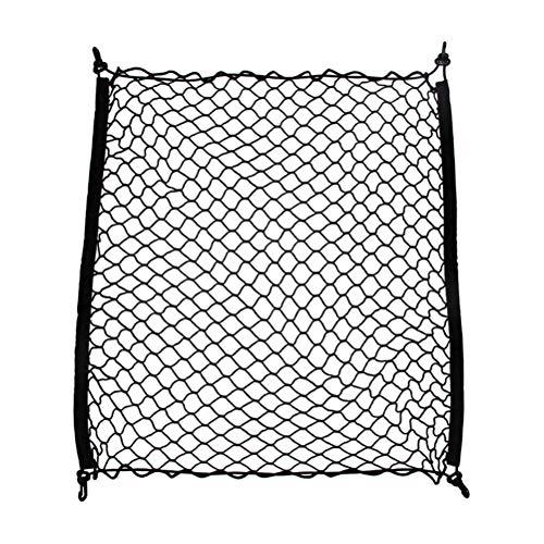LIOOBO Organisateur de Cargaison de Maille de Filet de Stockage de Cargaison élastique pour Coffre de Voiture Automatique (Noir)