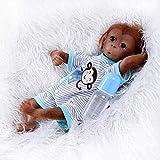Pinky Reborn Muñecos Bebe Reborn Niña Mono Bebé 18 Pulgadas 45cm Silicona Muñeca...