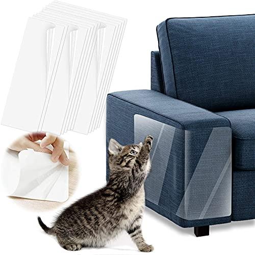 Kratzschutz für Haustiere,Katzensofa-Schutz, Anti-Kratz-Katzentraining, transparent, doppelseitig, Kratzschutz – Möbelschutz für Couch, Teppich, Türen, Theken, 43,2 cm L x 30,5 cm B, 10 Stück