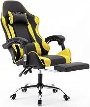 Cadeira Gamer Giratória Com Apoio de Pé Kelter Amarela V7009p