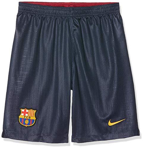 Nike Jungen 2018/19 Fc Barcelona Stadium Home Sport Shorts, Blau (Obsidian/University Gold 451), Medium