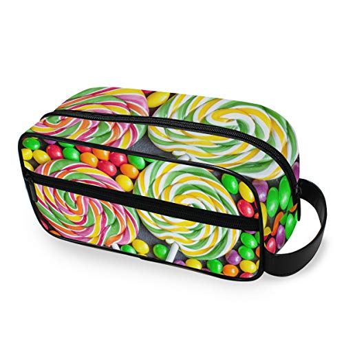 Viaje portátil Colorido Candy Lollipop Toiletry Pouch Bolsa de maquillaje Beauty Storage Tools Estuche de tren cosmético