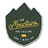 NI3802-Pack The Mountains Are Calling Sticker/Decal   Premium Quality Vinyl Sticker   4-Inches by 3.5-Inches