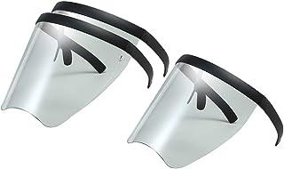 Milageto 3PCS Big Safety Full Face Gafas Reutilizables Visera Transparente