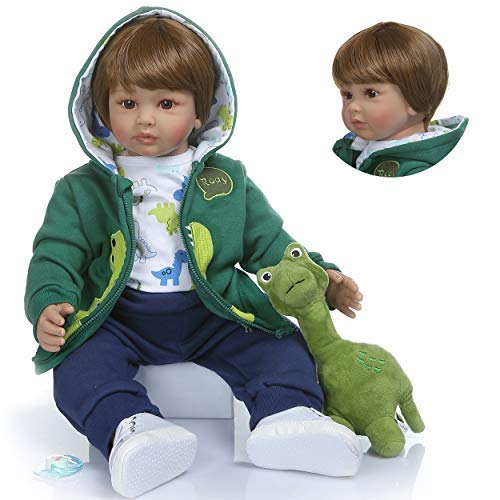 Zero pam Reborn Baby Dolls 24 Inch 60cm Soft Silicone Reborn Toddler Boy Doll Cloth Body Real Life Like Looking Newborn Dolls Toy