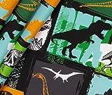 0,5m Jersey Dino Grunge - schwarz Eigendruck BioBunt