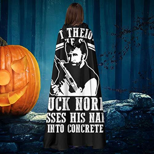 NULLYTG Chuck Norris Disfraz de Capa de Disfraz de Vampiro con Capucha para Halloween, Navidad, Halloween, Bruja, Caballero