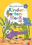 Klett Mein großer bunter Kindergarten-Block: ab 3 Jahren, Erste Zahlen und Buchstaben, Konzentration