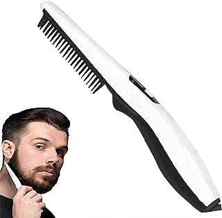 Electric Hair Comb Beard Straightener Comb, Brush, for Men Quick Curling Straightening Brush Comb Multi-Functional Quick H...