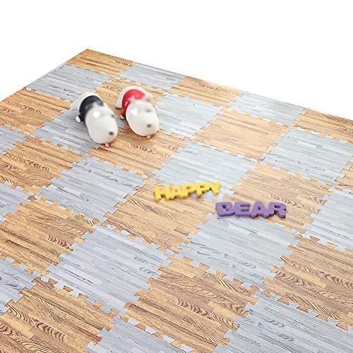 YAYADU Alfombrillas De Espuma for Imitación Madera Grano Impermeable Antideslizante Suave Y Confortable A Prueba De Choques Brecha Alta Tenacidad Sala (Color : B, Size : 40PCS)