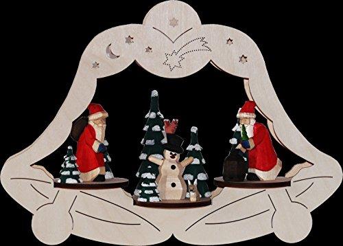 Vensterafbeelding Kerstman elektrisch verlicht 32 cm Ertsgebergte NIEUW