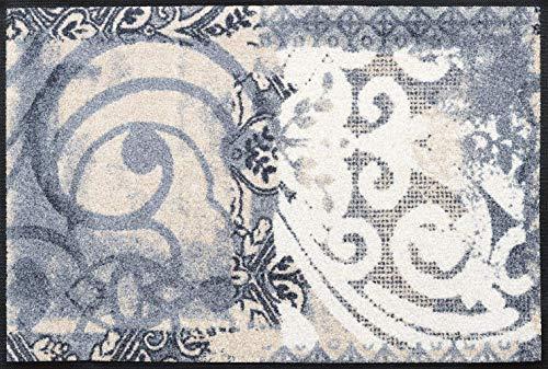 Wash + Dry Fußmatte, Acryl, Grau, 50x75 cm