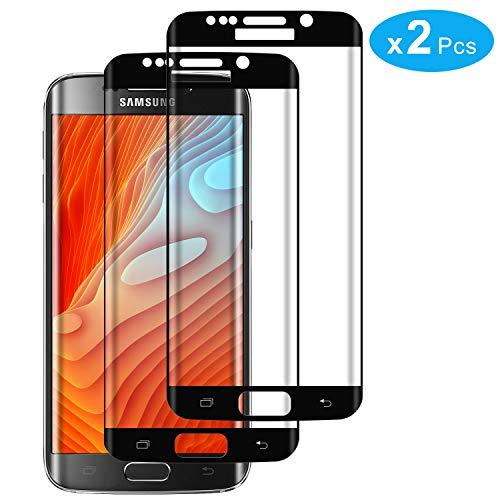 RIIMUHIR Protector De Pantalla De Vidrio Templado para Samsung Galaxy S7 Edge 2 Pack Protector De Pantalla Sin Comprometer La Definición De Pantalla Libre De Burbujas