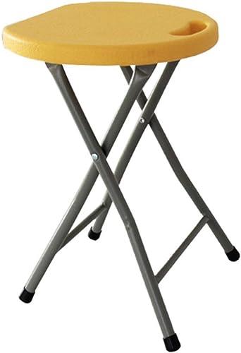 el mas de moda Folding Folding Folding chair Silla - Taburete Plegable, Mesa de Comedor y Silla, Taburete de Bar Taburete de Barbacoa portátil de Metal súper Carga Taburete de plástico (Color   amarillo)  tomar hasta un 70% de descuento