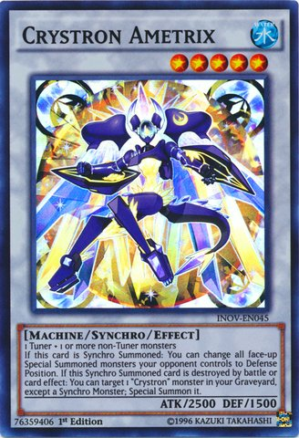 Yu-Gi-Oh! - Crystron Ametrix (INOV-EN045) - Invasion: Vengeance - 1st Edition - Super Rare