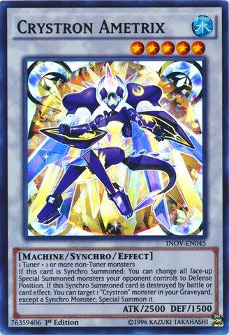 Yu-Gi-Oh! - Crystron Ametrix (INOV-EN045) - Invasion: Vengeance - 1st Edition - Super Rare
