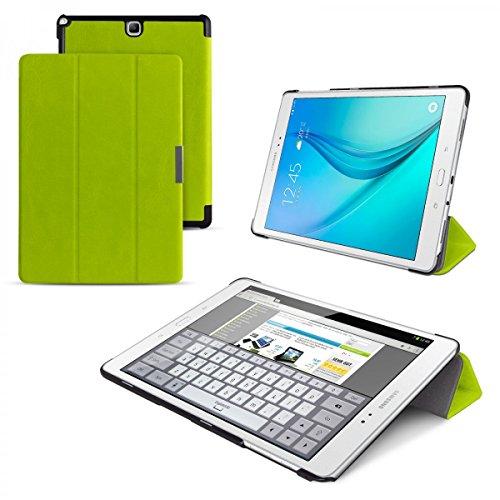 eFabrik Custodia per Samsung Galaxy Tab A 9.7 Custodia Verde (SM-T550, T551, T555) Cover Telefono Tablet Accessori Caso Fintapelle