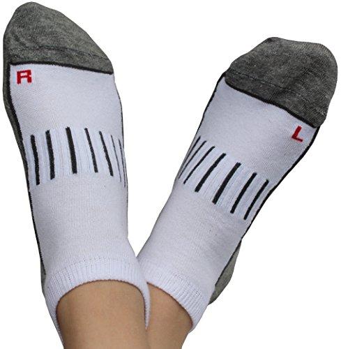 Wowerat 6 Paar Sport Sneaker Socken Damen Herren, Atmungsaktiv Antibakteriell, weiß, Gr. 35-38