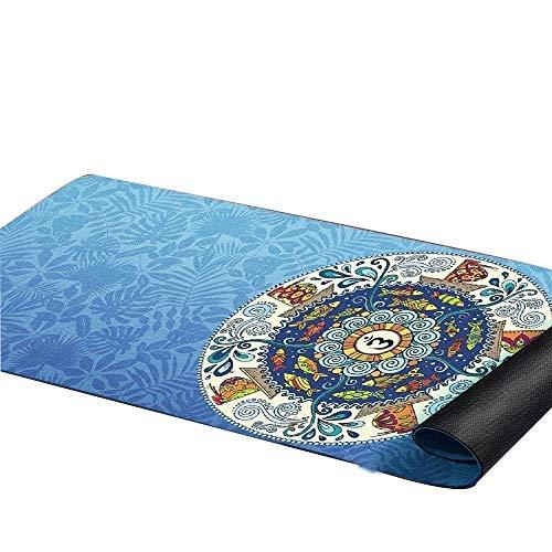 ZDSGXJQA Naturkautschuk-Yoga-Matte, Haushalt Anti-Rutsch-Matte Handtuch, Professionelle Yoga-Matte Geeignet für Fitnessunterricht oder Heim-Fitnessst