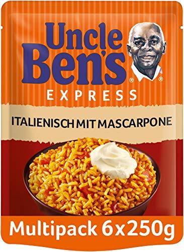 Uncle Ben's Express-Reis Italienisch - Tomate & Mascarpone, 6 Packungen (6 x 250g)