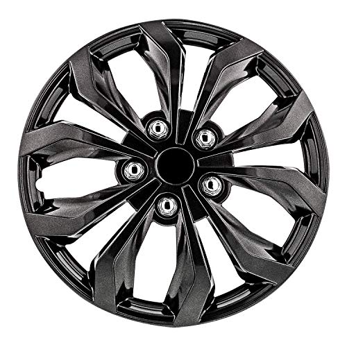 "Pilot Automotive WH555-16GM-B 16 Inch 16"" Universal Fit Spyder Wheel Cover 