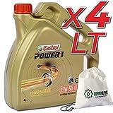 Olio motore 4 tempi 15w50 Castrol Power1 4T 15W-50 con borsa multiuso conf. 4lt