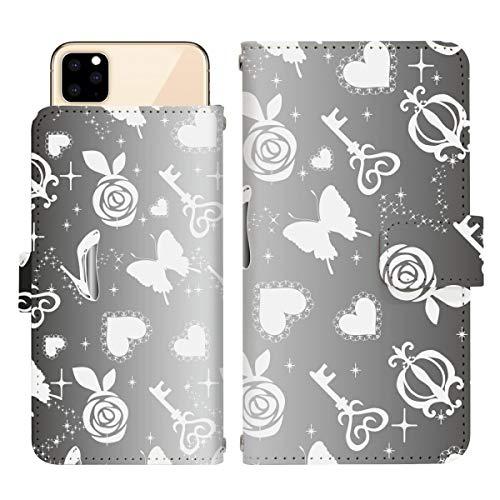 iPhone 12 mini スライド式 手帳型 スマホケース スマホカバー dslide074(D) チョウ バタフライ ハート 花 鍵 キラキラ アイフォントゥエルブミニ アイフォン12ミニ iphone12mini スマートフォン スマートホン 携帯