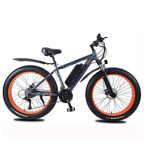 """Caige Bicicletas eléctricas 350W 26"""" con la batería de Litio extraíble eléctrico de Motos de Nieve, 27 de Velocidad,Gris,8AH"""