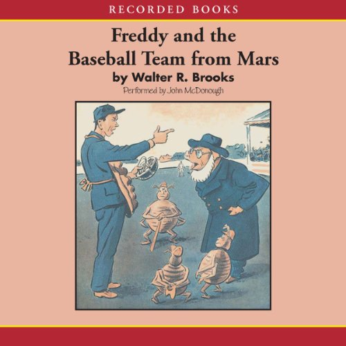 Freddy and the Baseball Team from Mars audiobook cover art