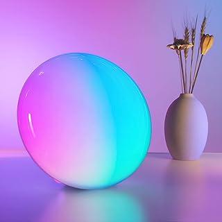 چراغ رومیزی هوشمند دکالا ، چراغ هوشمند RGB Dimmable ، چراغ های سرد 16 میلیون رنگ و چراغ تغییر رنگ 9 ، چراغ شب با الکسا کار می کند