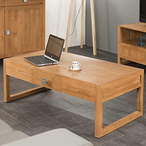 wanda collection Table Basse en Teck Thea 110 rectangulaire
