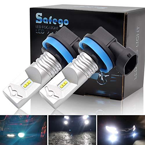 H11 H16 Fendinebbia LED Lampada Luminosa - Safego LED Fendinebbia Lampada Xenon Bianco 12V LED Nebbia Faro AUTO Lampadina Super Luminosa Con 6SMD CSP Chip 6500K