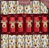 Robin Reed 6 x 13 inch Racing Reindeer Christmas Crackers (Cat F1)